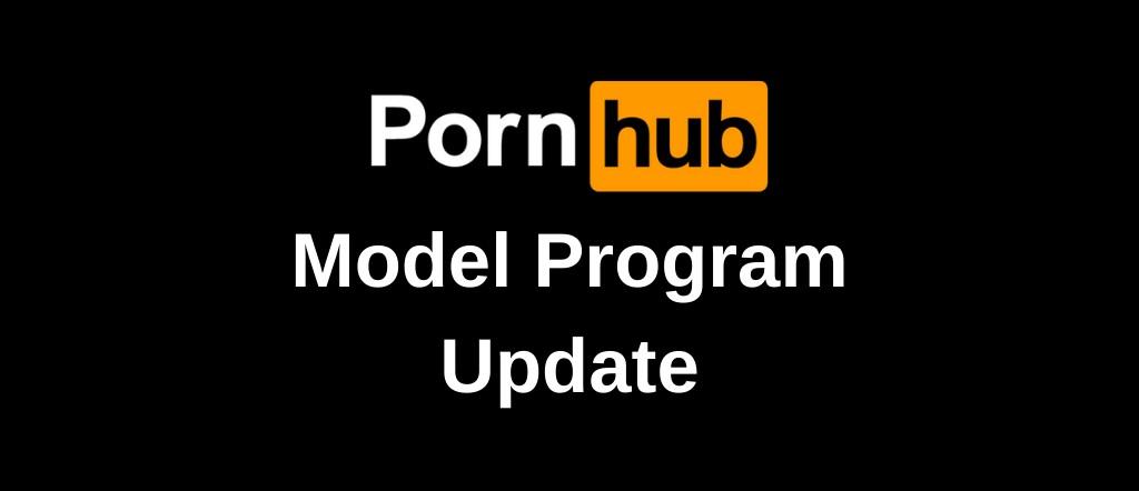 Pornhub Model Program Update Banner