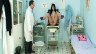 Gyno Clinic Pussy Speculum Exam Of Busty Adriana
