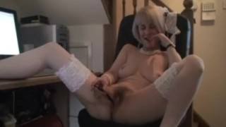 Milf mature office play stockings stockingaces.com