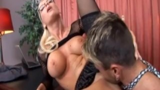 Busty secretary Helena Sweet fucking on an office desk wearing lingerie