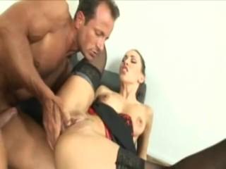 Sexy secretary Mya Diamond fucked by her boss while wearing lingerie