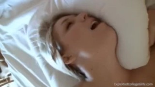 Janelle break takes study a pov facial