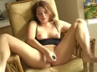 Girl plays with toy and has nice orgasm
