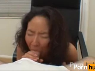 Asian girl suck and fuck the fat guy