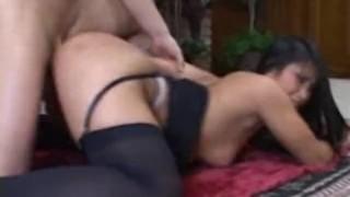 cristina aguchi in a red thong teasing