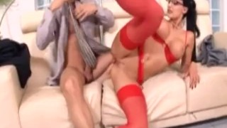 Secretary Aletta Ocean in Red Lingerie Fucking on The Job