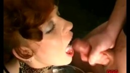 This German Big Tit Slut loves cum on her face!
