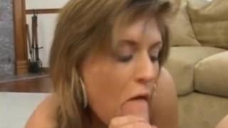 Sperm swallowing busty milf