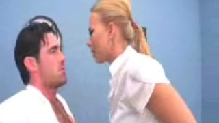 Angry professor sticks his cock to Melanie Jayne's noisy mouth