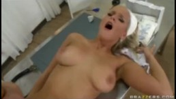 BLONDE TEEN NURSE WITH NATURAL-TITS NEEDS ANAL FROM PATIENT - Brazzers