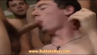 He wants to swallow our cocks Puppy bdsm