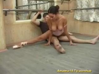 Busty ballerina fucking