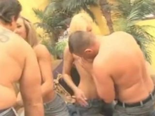 Preview 4 of Brandi Love and Allie get naughty at Swinger Party