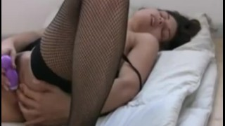 Steamy with amber dildo play sexy solo