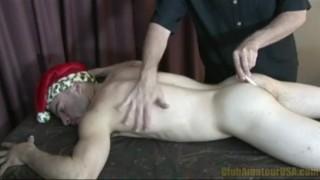 Unwrapped dixon santa rubbing massage