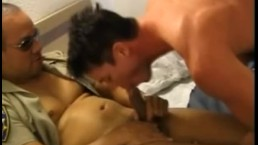 Hairy Cop Gives A Hot Blowjob