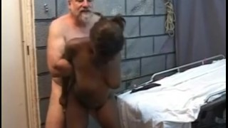 Kinky ebony fucked HARD from behind