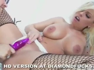 Diamond Kitty And Britney Amber On White