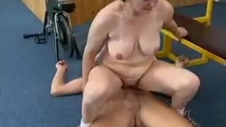 Load and facial old crazy fresh fucked cock gets mom old granny