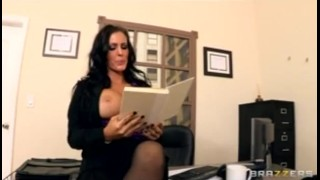 BIG TIT & ASS Squirting brunette boss is fucked hard in wet pussy