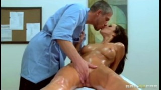 Fucked big brunette dick busty babe work then by hard at massaged brazzers masseur