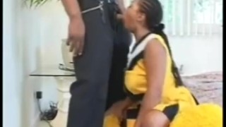 Black Cheerleader Blowjob