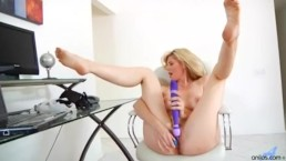 Hot milf Kate Kastle intense vibrator orgasm