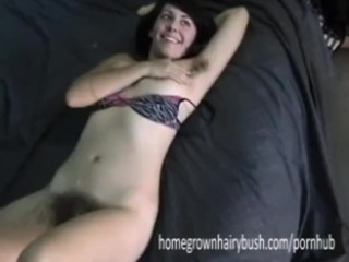 Homegrownhairybush's Chris Bangs Jezebel's Hairy Pussy In Doggy