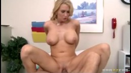 Hot Big-tit blonde MILF wife slut fucks doctor's big dick in clinic