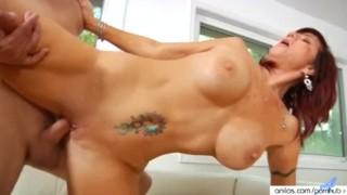 Bigtit cougar fucks her way to a facial