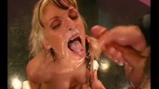 Two cocks fucking MILF Gina