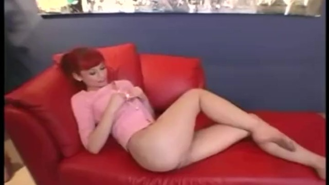 Lingerie girl nude panties - Skinny redhead in panties with a toe sucking and pantyhose fetish