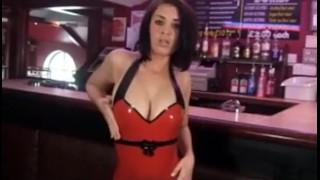 busty babe striptease