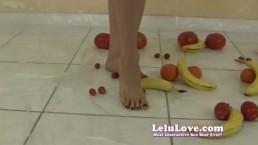 Lelu Love-Naked Femdom Food Crushing 1of3