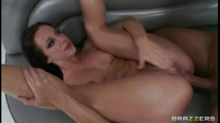 HOT big-ass brunette Pornstar Jada Stevens oiled up & fucked anal