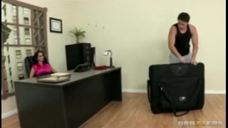 HOT horny executive Ava Addams massaged and fucked hard in office