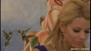 Blonde lesbian couple Brandi Love & Nicole Graves enjoy rough-sex