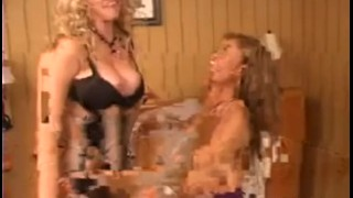 Babes lesbian pussy squizing huge breasts sex and licking tits masturbating
