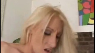 Lesbian couple getting fucked by a huge cock