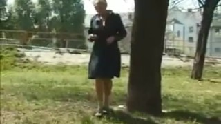Wet fountains of golden pee coming out of her peehole Public raw