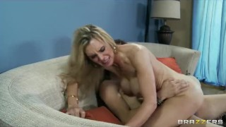 Slutty blonde MILF Tanya Tate fucks her daughter's school tutor