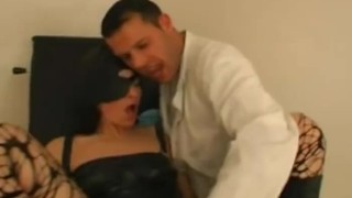 Masked Babe Banged At The Clinic Fetish shot
