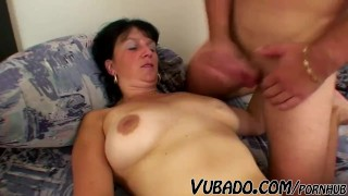 Young mature woman stud fucks  with fart mature