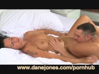 DaneJones 19yrs babe orgasms on her first big cock