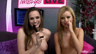 Screen Capture of Video Titled: TWISTYS LIVE Show with Tori Black, Jessie Rogers & Emily Addison