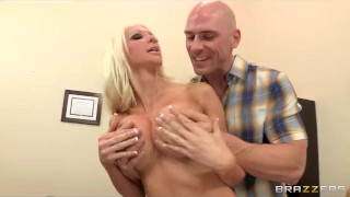 Preview 5 of Big-tit blonde teacher Holly Price fucks her student for grades