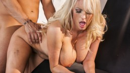 Busty blonde milf loves big dick 1