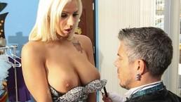 HOT aspiring blonde model Lylith Lavey rides big-dick for work