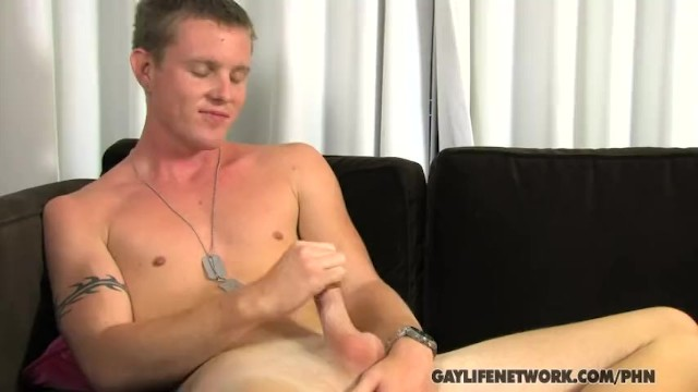 Military Boy Jerks His Hot Dick!