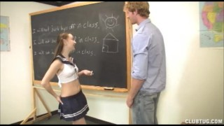 Student teacher mans cock gives a to a lesson on suck yhow his job teen